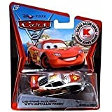 Disney Pixar CARS 2 Exclusive 1:55 Die Cast Car SILVER RACER Lightning McQueen With Metallic Finish - Véhicule Miniature - Voiture