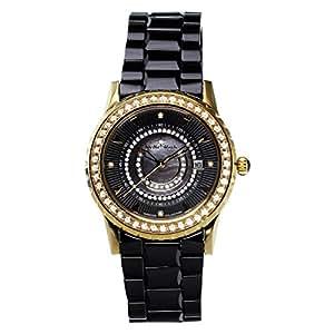 stella maris damen armbanduhr schwarz analog quarz premium keramik diamanten stm15z6 amazon. Black Bedroom Furniture Sets. Home Design Ideas
