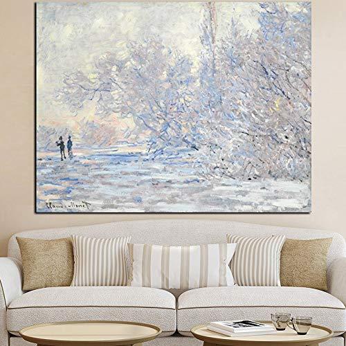 Zzlfn3lv Imprimir Blanco Moderno Claude Monet Impresionista