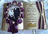 Eiserne Hochzeit -65-jähriges Ehejubiläum- Dekobuch für Foto (mit Holz-Buchständer), Schmuckbücher für alle Anlässe