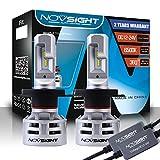NOVSIGHT 60W 10000LM H4 LED Phare Auto Car Lampe Feux Conversion Ampoule Light Bulb Kit 6500K ,Garandie de 2 Ans, Lot de 2