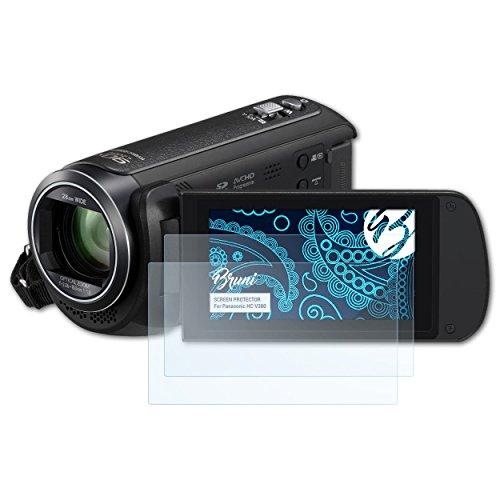 Galleria fotografica Bruni Panasonic HC-V380 Pellicola Proteggi - 2 x cristallino Protezione Pellicola dello Schermo Pellicola Protettiva per Panasonic HC-V380