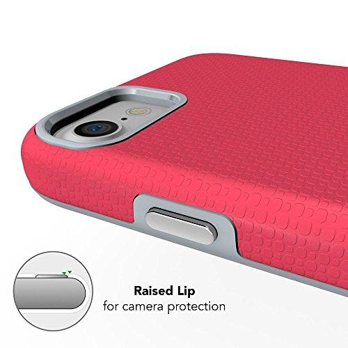 iPhone 8 / 7 Hülle Handyhülle von NICA, Slim Silikon Case mit Hardcover, zweiteilig Dünne Sport Design Schutzhülle, Hard-Case Etui, 2 in 1 Backcover Handy-Tasche für Apple iPhone 7 / 8, Farbe:Schwarz Pink
