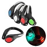 MFCreative 2PCS LED Luminous Shoe Clip Light Night Safety Shoe Light Warning, Great for Bike Cycling, Running, Sports, shopping, climbing