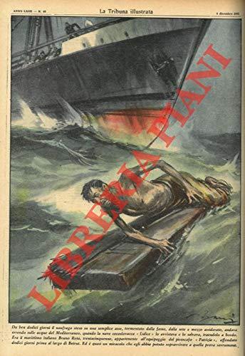 """Roma, 1955 dicembre 4, copertina illustrata a colori in fascicolo originale completo di pp. 24 de """"La Tribuna illustrata"""" ."""