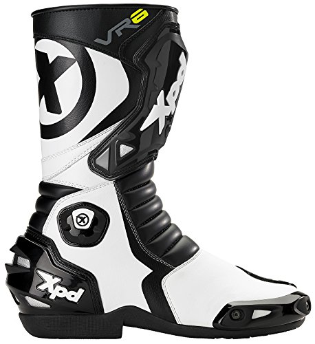 SPIDI Sport S.r.l. (EU) XPD - Stivali da Moto VR6, Nero/Bianco, 42