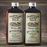 Chamberlains Leather Milk Formula No. 2 & 6 - Straight Cleaner and Boot & Shoe Cream Made in the USA - 2 Sizes Available - 0.18 L