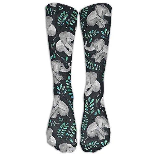 Gorgeous Socks Medias divertidas personalizadas riendo bebé elefantes impresos sobre botas niñas...