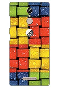 AMAN Live Lines 3D Back Cover for Gionee S6s