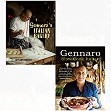 Gennaro's italian bakery and slow cook italian 2 books collection set