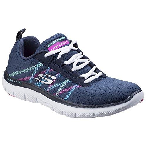 Skechers Damen Sneaker Flex Appeal 2.0 Act Cool (38 EU) (Marineblau/Multi) -