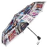 Automatischer Regenschirm - Praktisch für die Tasche oder den Rucksack - windfester Taschenschirm - Paris Schirm (Paris)