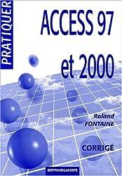 Access 97 et 2000. Corrigé