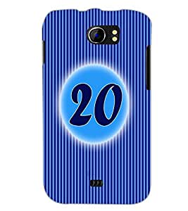 PrintDhaba Numerology Number 20 D-2578 Back Case Cover for MICROMAX A110Q CANVAS 2 PLUS (Multi-Coloured)