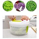 ZEMER Früchte Gemüse Salatschleuder Küchen-Salat Dehydrator Trockner Reiniger Korb Unterlegscheibe Mit Sieb Und Geschirrspüler Safe Bowl Für Schmackhaftere Salate Und Schnellere Speisenzubereitung