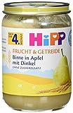 Hipp Frucht & Getreide Birne in Apfel mit Dinkel, 6er Pack (6 x 190g)