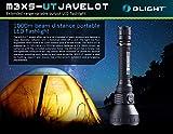Olight® M3XS-UT Javelot Kit LED Taschenlampe max. 1200 Lumen Cree XP-L LED taktisch, Schwarz - Box-Verpackung mit 2 x 18650 3600mAh Batterien Akkus, 1 x Omni Dok Ladegerät und 1 x Verlängerungsrohr - 9