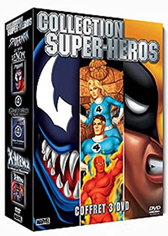 Collection Super-Héros 3 DVD : Spider-Man : La Saga Venom / Les 4 fantastiques, la légende commence / X-Men 2 : Le Retour de Wolverine