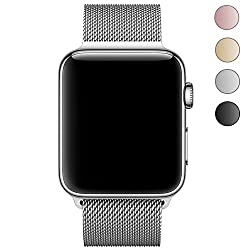 Leehur Newest Milanese Apple Watch Band Loop Strap For 38mm Apple Watch Series 1 Series 2 Series 3