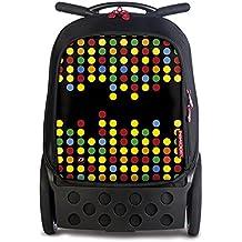 Nikidom Roller Technodots, Mochila Escolar con Carro
