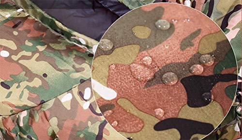 AAXIA Saco de Camuflaje Verde,Saco de Dormir para Adultos al Aire Libre,Saco de Camuflaje de Plumas,Saco de Invierno en el Interior.