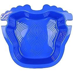 Linxor France ® Pédiluve bleu avec fond antidérapant et accroche échelle pour piscine hors sol - Norme CE