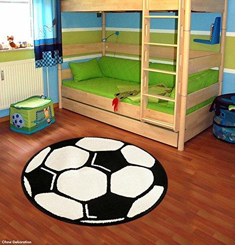 Fußball Teppich Kinderteppich Spielteppich rund 100 cm TN-17