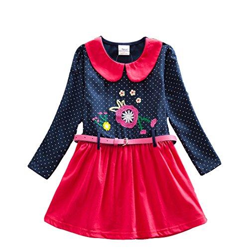 NEAT Vestito Manica Lunga Cotone Ragazze 2-8 anni LH6869 blu 7T