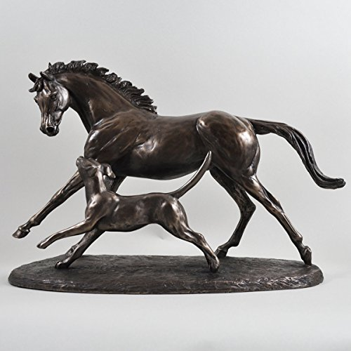 Running Bronze Racing Pferd Und Hund Harriet Glen