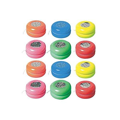 amscan International Favour Laser Yo-Yo, 12Stück - Yoyo Ballon
