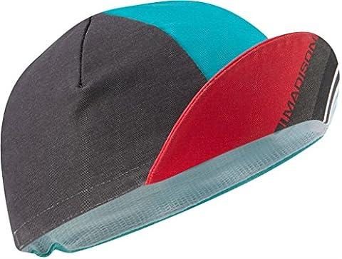 Madison Sportive Poly Cotton Cap - Blue Curaco Blocks
