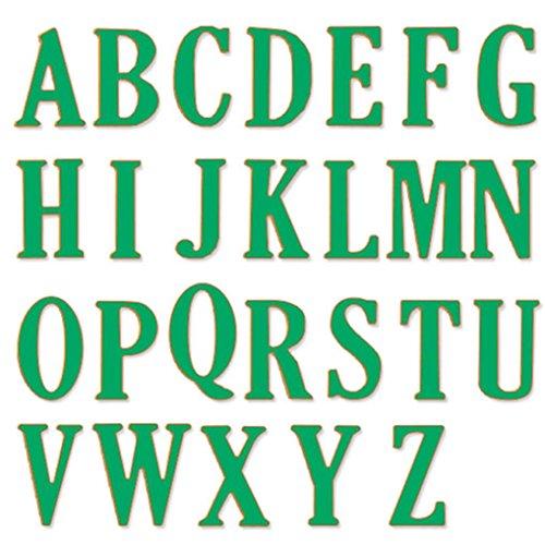 Big Alphabet Buchstaben Formen Schablonen Metall für Heimwerker Scrapbooking, Karbonstahl, silber, AS Show (Happy Halloween Foto-karten)