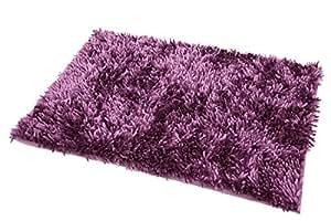 50x70 lila erika violett Badteppich Badeteppich Badematte Badematten Teppich Fußbodenbelag pflegeleicht strapazierfähig Shaggy