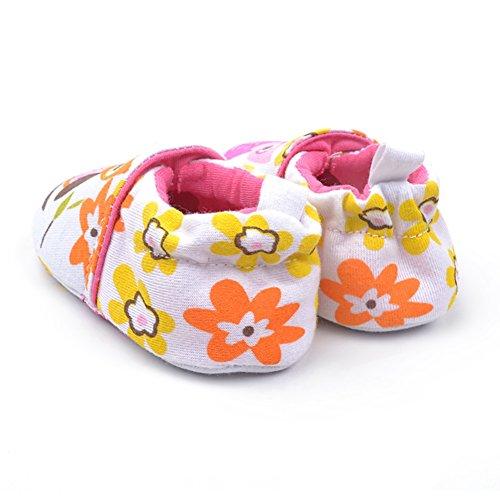Goldore Baby Warm Neugeborene Baumwolle weiche Schuhe Säuglingskleinkind Elastic Heel Slip-on-erste Wanderer-Schuhe 0-18M Eule weiß