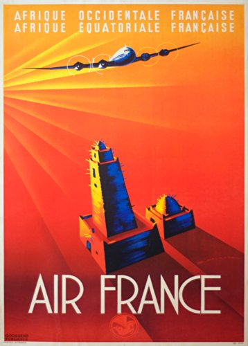 vintage-travel-africa-with-air-france-c1947-250gsm-gloss-art-card-a3-reproduction-poster