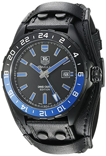 TAG Heuer Men's 43mm Black Leather Band Titanium Case S. Sapphire Automatic Analog Watch WAZ201A.FC8195