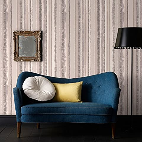 SALE Superfresco Romany Stripe Natural Wallpaper Was £12 Now £5