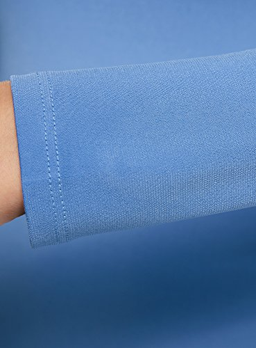 oodji Ultra Damen Jersey-Kleid mit Ausgestelltem Rock Blau (7501N)