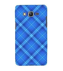 FUSON Blue Fabric Pattern 3D Hard Polycarbonate Designer Back Case Cover for Samsung Galaxy Core Prime :: Samsung Galaxy Core Prime G360 :: Samsung Galaxy Core Prime Value Edition G361 :: Samsung Galaxy Win 2 Duos Tv G360Bt :: Samsung Galaxy Core Prime Duos