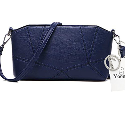 Yoome puro colore per incontro Crossbody Shell Bag Borsa a tracolla Ladies Handbag Borse in pelle morbida - Grigio Marina Militare