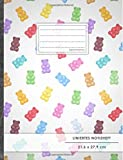 "Liniertes Notizbuch • A4-Format, 100+ Seiten, Soft Cover, Register, Mit Rand, ""Gummibären"" • Original #GoodMemos Lined Notebook • Perfekt als Tagebuch, Schulheft, Deutschheft, Lineatur 27"
