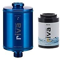 Duschfilter-Set Standard - Wasserfilter schützt Haut und Haare vor Chlor und Schadstoffen - Reduziert Kalk-Belag - Einfache Montage