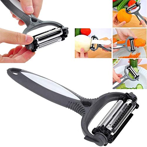amiubo Hot 3 in 1 Rotary Fruit Gemüse Karotten Potato Peeler Cutter Slicer Neu Gemüsehobel (Fruit Peeler-bar)