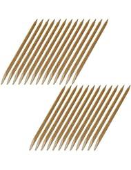 25 Rosenholzstäbchen Manikürstäbchen Hufstäbchen aus bayer. Buche - 120mm lang - Ø 4mm