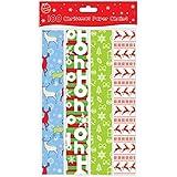 ARPAN - Tiras de papel (100 unidades), diseños navideños variados