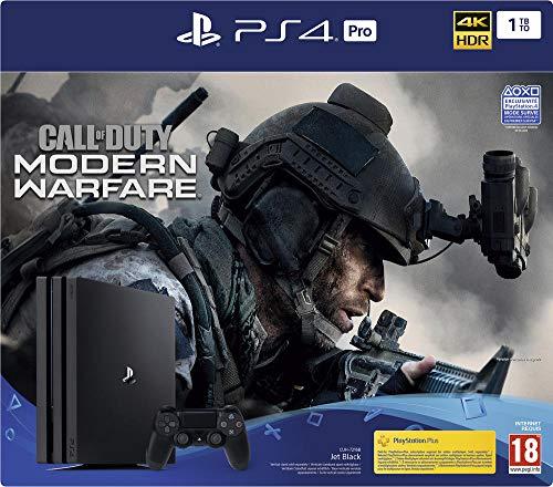 PS4 Pro 1 To G + Call Of Duty Modern Warfare - noir