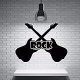 YuanMinglu Gitarrenwand Rock Gitarre Instrument Musik Wandaufkleber Vinyl Applikation Studio...