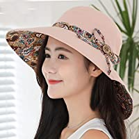 LTQ&qing Sombrero hembra sol verano sombrero sombrero visera sol protecci¨®n pa?o sombrero , E , m (56-58cm)
