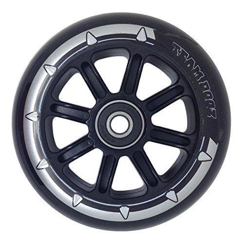 1 x Team Dogz Nylon-kern Roller Rad 100mm Mit ABEC 7 Lager Blau Grün Orange Pink - schwarz PU schwarz Core