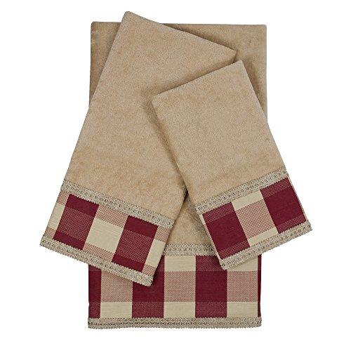 Sherry Kline Holbrook Gimp R verziert Handtuch-Set, Rot